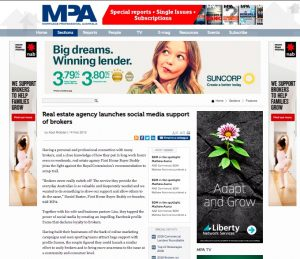 real estate agency launches social media support of brokers