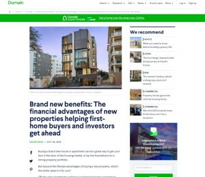 the financial benefits of new properties