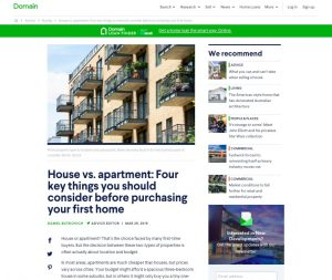 House v apartment 4 key things you should know before purchasing your first home